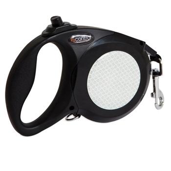Поводок-рулетка для средних собак, цвет черный