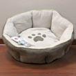 Лежак для кошек и мелких собак, с мягкими бортиками, круглый, диаметр 46 см