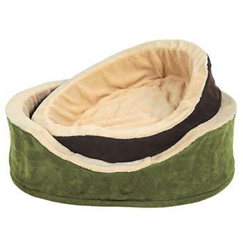 Лежак для собак, с бортиками, овальный,  маленький