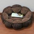 Лежак для кошек, с мягкими объемными бортиками, круглый, диаметр 46 см