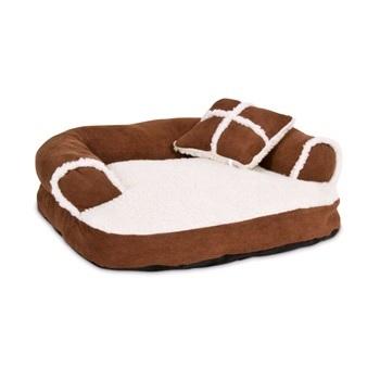 Лежак для кошек и мелких собак, с мягкими бортиками и подушечкой, (51х40,5х18 см)