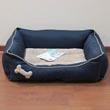 Лежак для кошек и собак, с мягкими бортиками, прямоугольный, 53х63 см