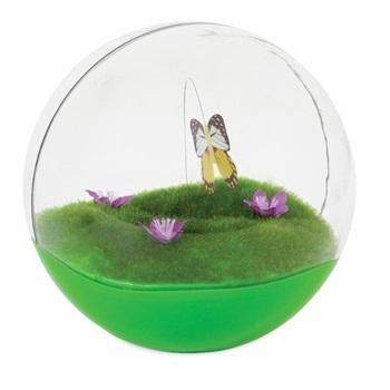 Игрушка д/кошек - Неваляшка-шар с бабочкой внутри, пластик