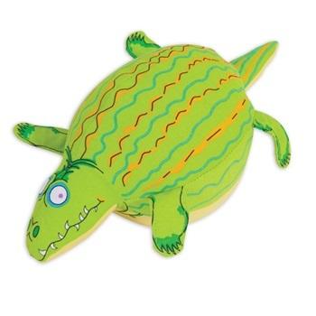 Игрушка д/собак - Крокодил, мягкая, особо прочная, с пищалкой