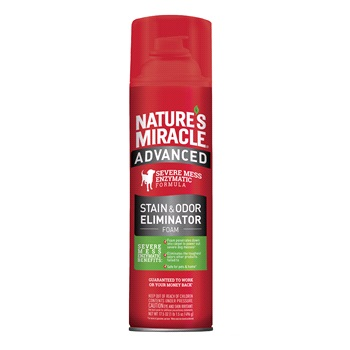 Уничтожитель пятен и запахов с усиленной формулой для собак, аэрозоль-пена, 518мл