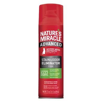 Уничтожитель пятен и запахов с усиленной формулой для кошек, аэрозоль-пена, 518мл