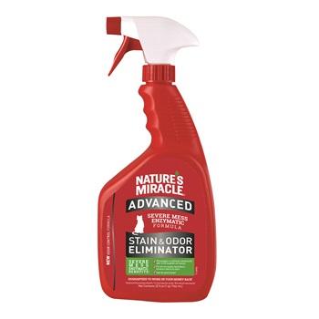 Уничтожитель пятен и запахов с усиленной формулой для кошек, спрей, 946мл