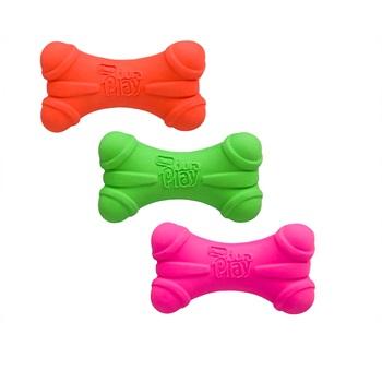 Игрушка для собак - Кость трёхгранная, латекс с наполнителем, запах бекона