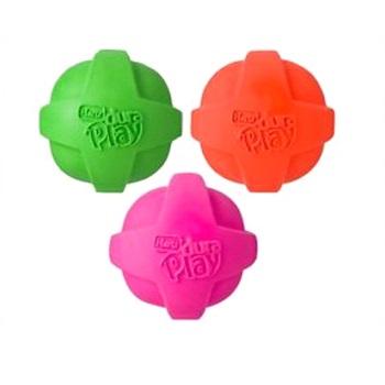 Игрушка для собак - Мяч рельефный, латекс с наполнителем, запах бекона, средний