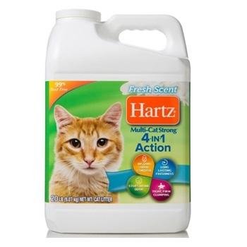 Наполнитель для кошачьих туалетов, 4в1, комкующийся, бентонит, с ароматом свежести, 9,1 кг