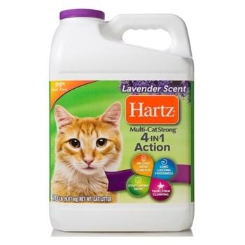 Наполнитель для кошачьих туалетов, 4в1, комкующийся, бентонит, с ароматом лаванды, 9,1 кг