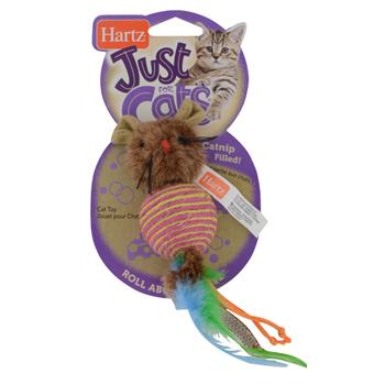 Игрушка д/кошек - плетеная круглая мышка
