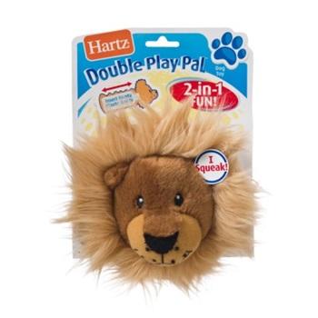 Игрушка д/собак - Хрустящая голова забавного животного, мягкая.