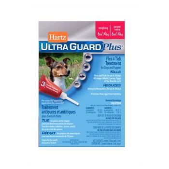 Капли Хартц Ультра Гард инсектоакарицидные для собак и щенков, от 6 до 14 кг, 1,3 мл.