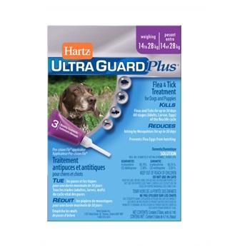 Капли Хартц Ультра Гард инсектоакарицидные для собак и щенков, от 14 до 28 кг, 4,1 мл.