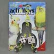 Игрушка для птиц - Кубики зеркальные с колокольчиками, пластик