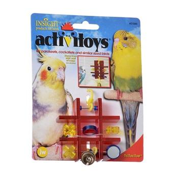 Игрушка д/птиц - Полочка с зеркальцем и колокольчиком