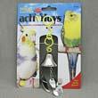Игрушка для птиц - Вилка, ножик, ложка на колокольчике, пластик