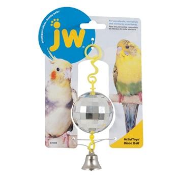 Игрушка для птиц - Зеркальный шар с колокольчиком, пластик