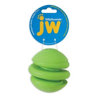 Игрушка д/собак - Спиральный мяч с пищалкой, каучук.