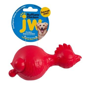 Игрушка для собак - курица с пищалкой, каучук