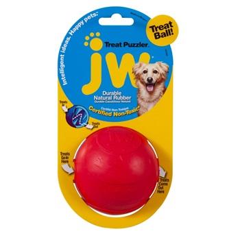 Игрушка для собак - мяч, наполняемый лакомством, каучук